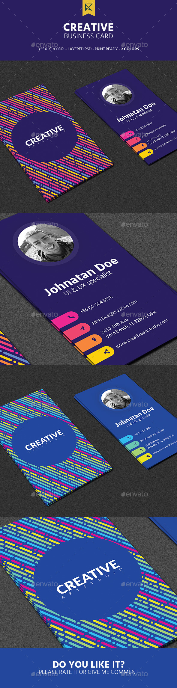 Creative vertical business card by zeusex graphicriver creative vertical business card creative business cards reheart Choice Image