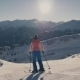 Woman Is Skiing at a Ski Resort - VideoHive Item for Sale