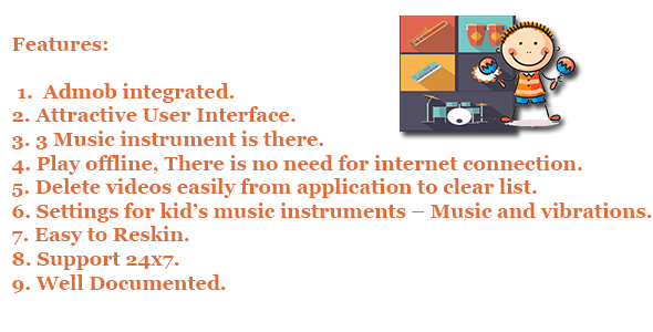 Kids Music Instruments - CodeCanyon Item for Sale