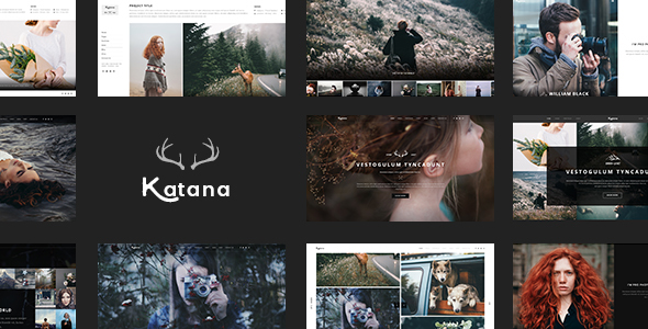Katana – Photography & Portfolio PSD Template