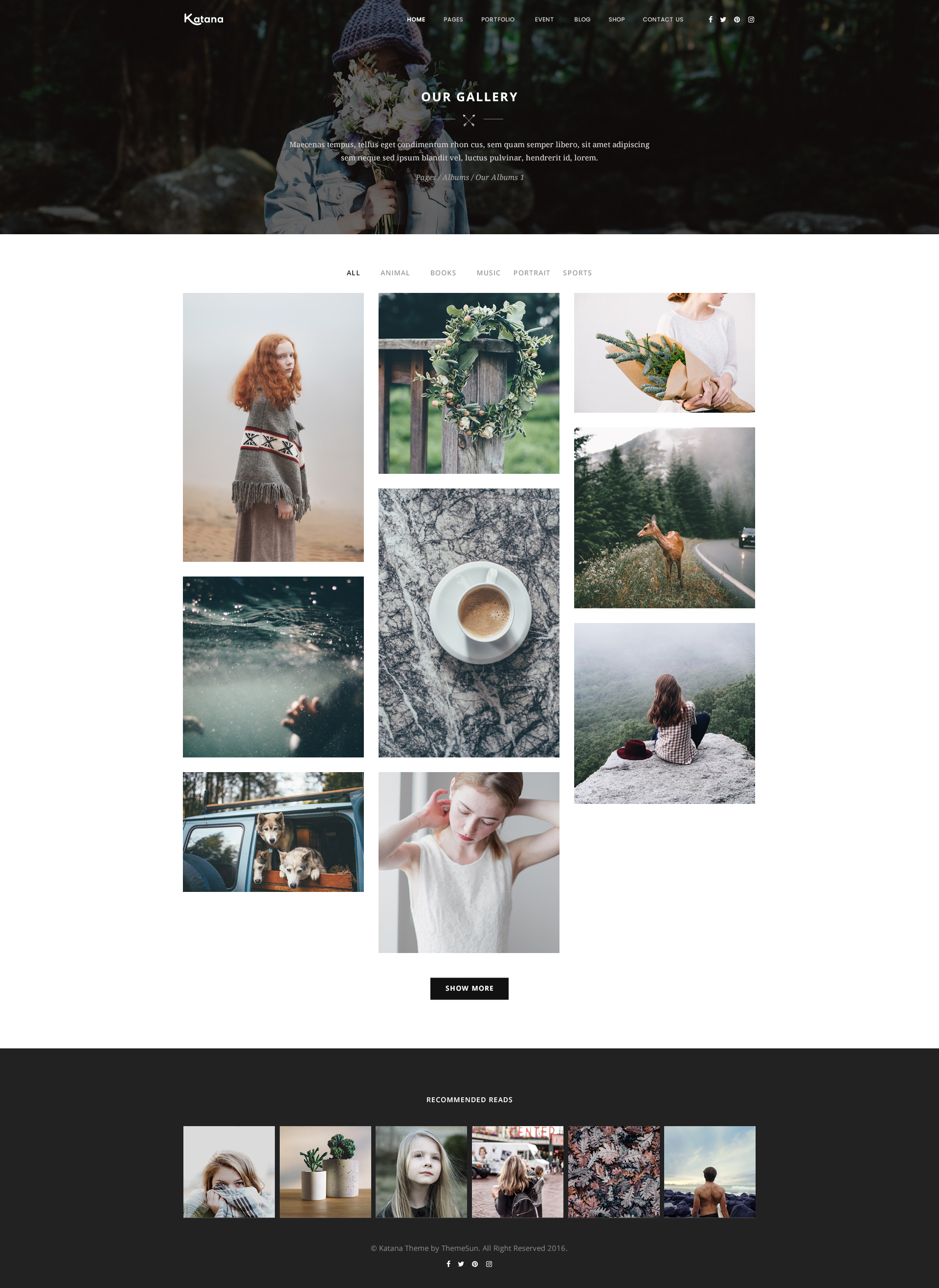 Katana photography portfolio psd template by themesun katana preview 1017 gallery 2g pronofoot35fo Choice Image