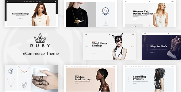 01 preview.  large preview - Ruby - Jewelry Store Responsive Magento Theme