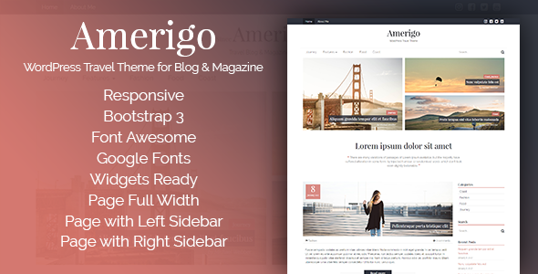 Amerigo – WordPress Travel Theme for Blog & Magazine