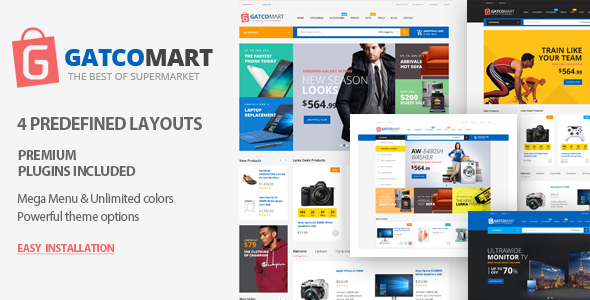 Gatcomart – Multipurpose WooCommerce WordPress Theme