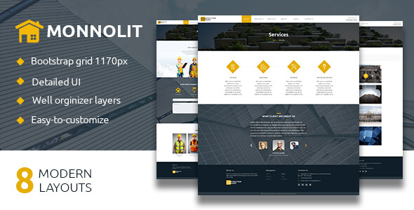 MONNOLIT — Construction PSD Template