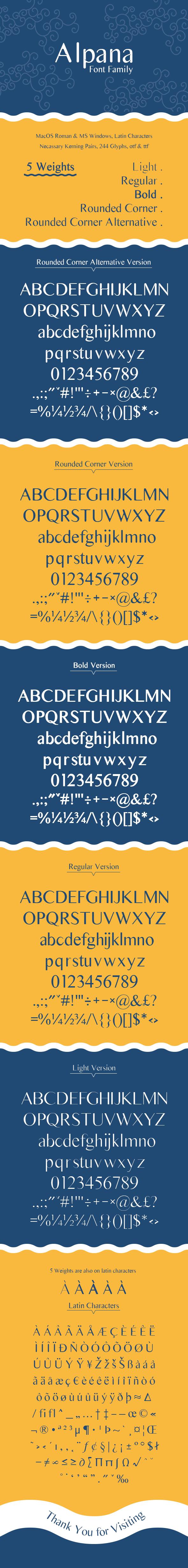 Alpana - Sans-Serif Fonts