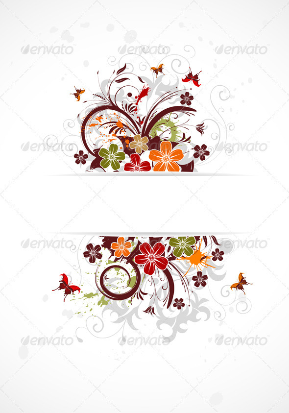 Flower frame - Borders Decorative