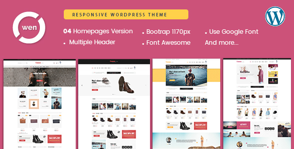 Owen - Mobile Optimized Multipurpose WordPress Theme - WooCommerce eCommerce