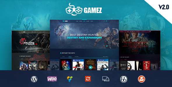Image of Gamez - Games, Movie, Music Review and Editorial WordPress Theme