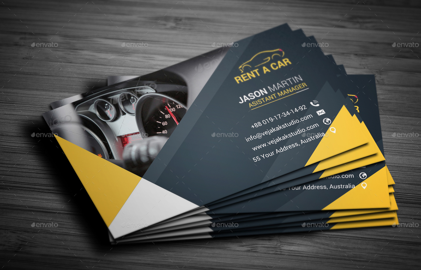 Rent a car business card by vejakakstudio graphicriver rent a car business card industry specific business cards preview01g magicingreecefo Images