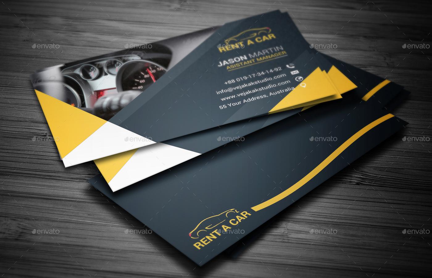 Rent A Car Business Card by vejakakstudio   GraphicRiver