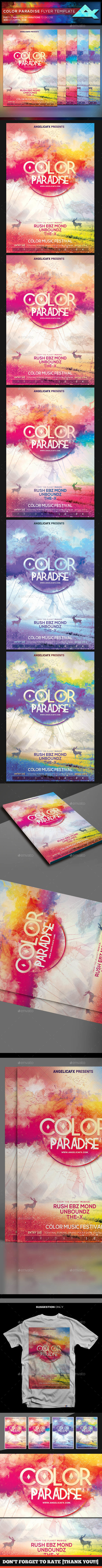 Color Paradise Flyer Template - Flyers Print Templates