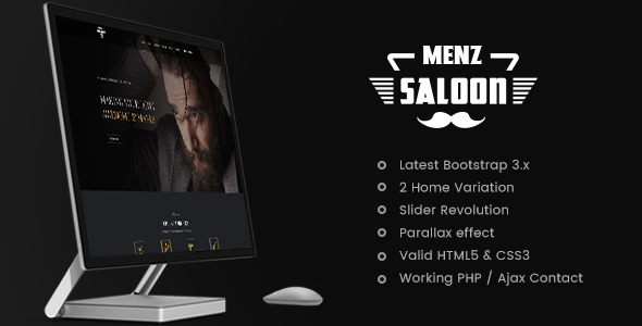 MenzSaloon – Barber & Salon Joomla Template