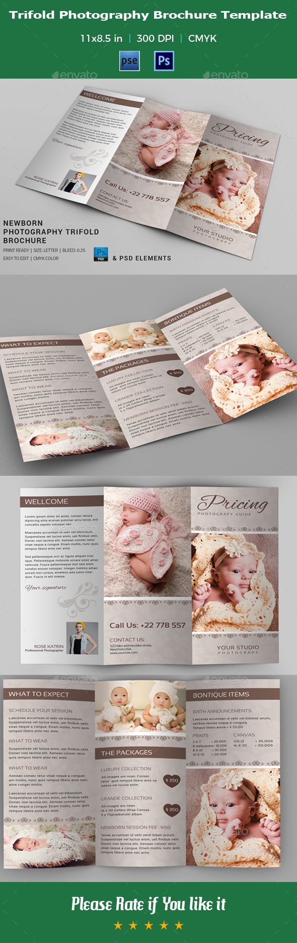 Photography Brochure Template V19 By Azgraphics Graphicriver