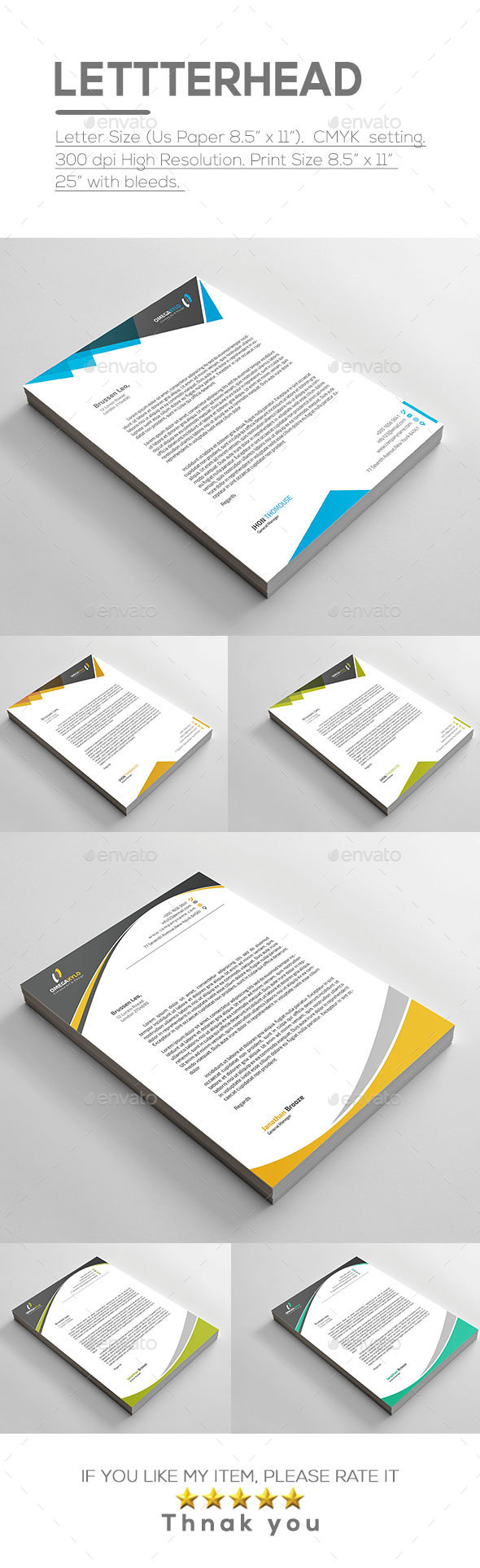 Letterhead Bundle ( 2 In 1 ) - Stationery Print Templates