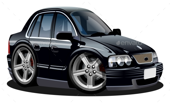 Cartoon Vector Car - Man-made Objects Objects