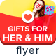 Gifts For Her & Him Flyers - GraphicRiver Item for Sale