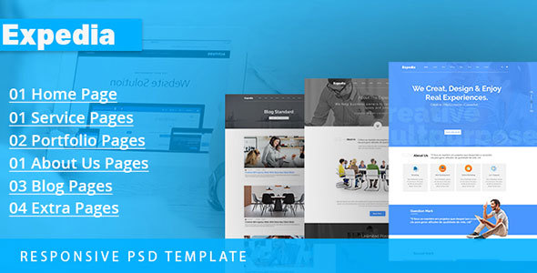 Expedia Multipurpose PSD Template