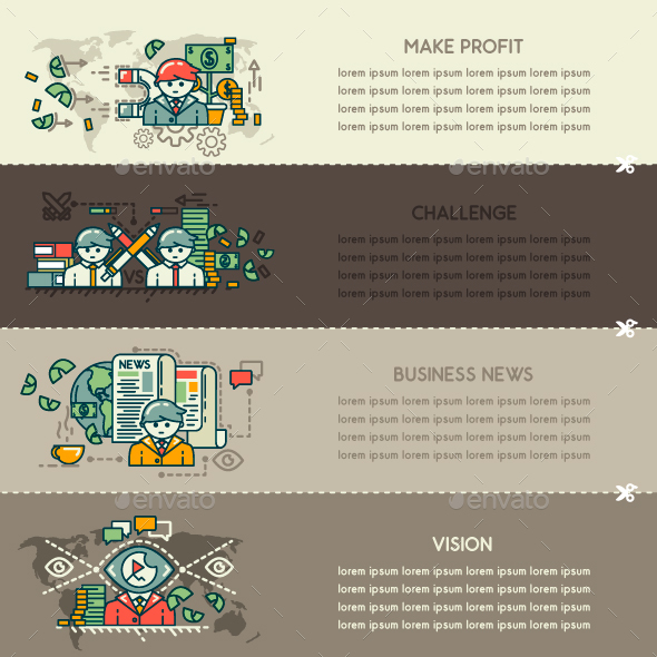 Set Twenty Eight of Business Banners - Concepts Business
