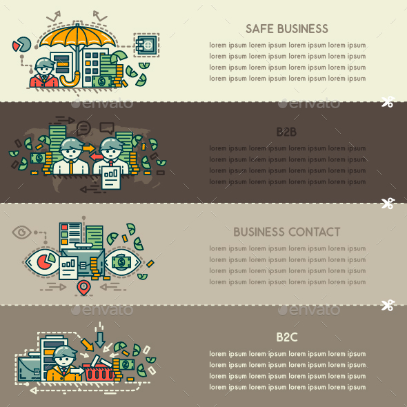 Set Thirty of Business Banners - Concepts Business