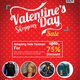 Valentines Day Shopping Sale Flyer Template