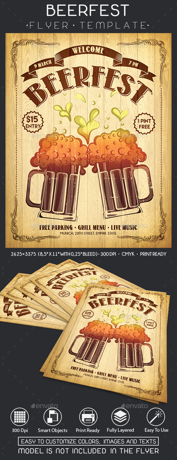 Beerfest - Events Flyers