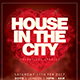 House In The City Valentines Day Flyer - GraphicRiver Item for Sale