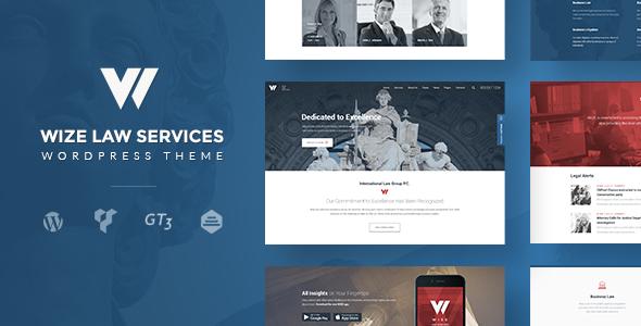 Law Services | Lawyer & Attorney Business WordPress – WizeLaw
