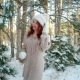 Winter Fairy Tale, Girl Holding a Sparkler, Beautiful Girl in the Winter in the Woods, Winter Nature Nulled