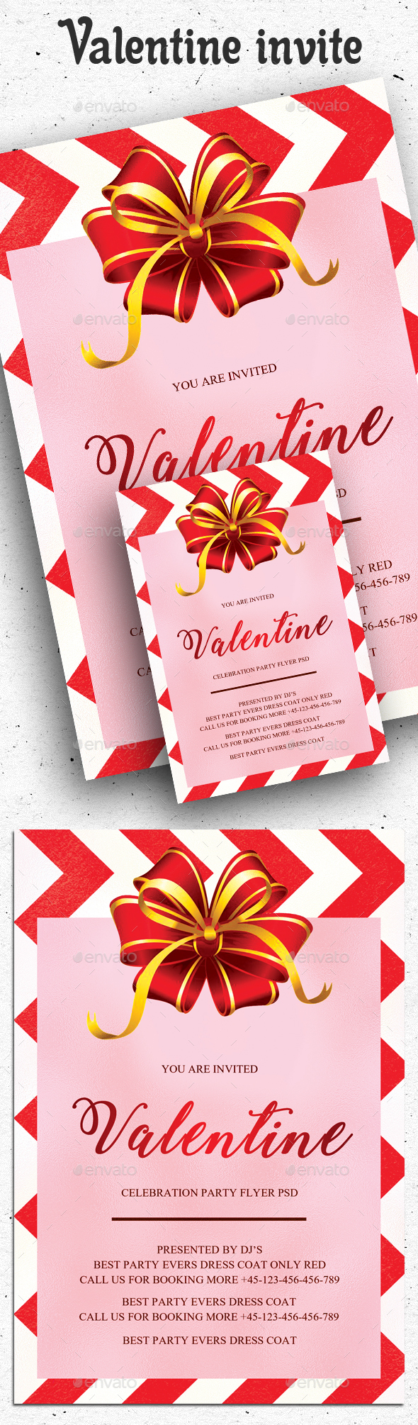 Valentine Flyer and Invitation - Clubs & Parties Events