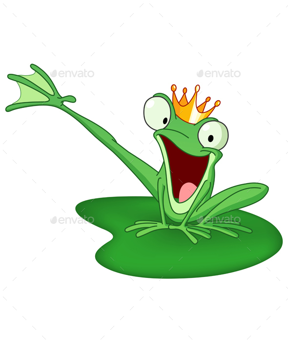 Happy Frog Prince - Animals Characters