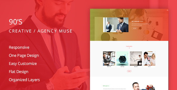 90's Creative Agency Muse Template