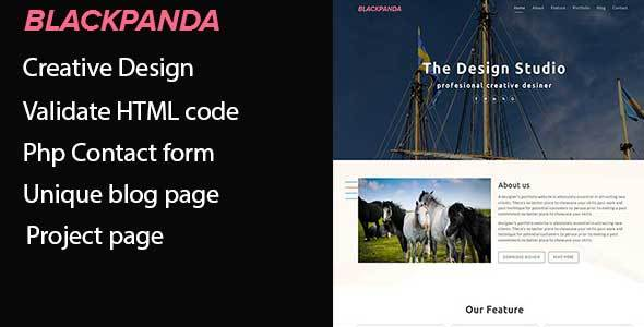 Blackpanda – Creative Portfolio Template