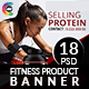 Banners for Fitness Product - GraphicRiver Item for Sale