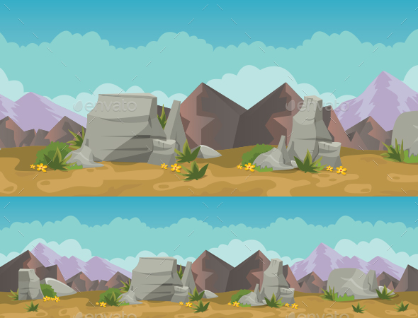 The Desert Background - Backgrounds Game Assets