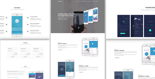 Decades - Responsive App Landing Template - Technology Site Templates