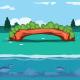 Green Bridge Background