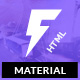 Fugiat - Material Design HTML Template - ThemeForest Item for Sale