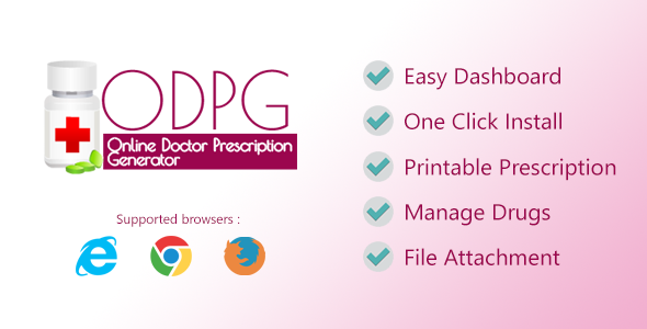 Online Doctor Prescription Generator - CodeCanyon Item for Sale