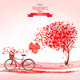 Valentine Holiday Background with Heart Shaped Tree - GraphicRiver Item for Sale