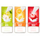 Set of Three Labels of Berries in Milk Splashes - GraphicRiver Item for Sale
