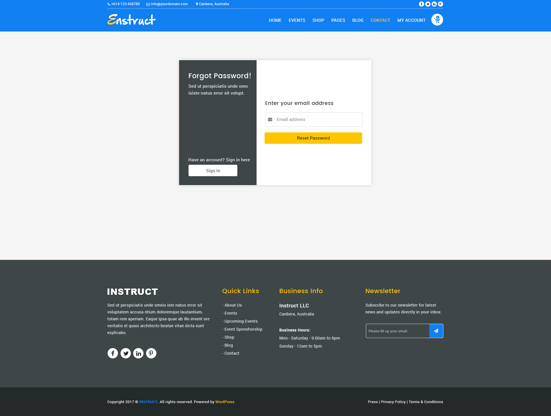 Enstruct Events Conference Psd Template By Webavenue Themeforest