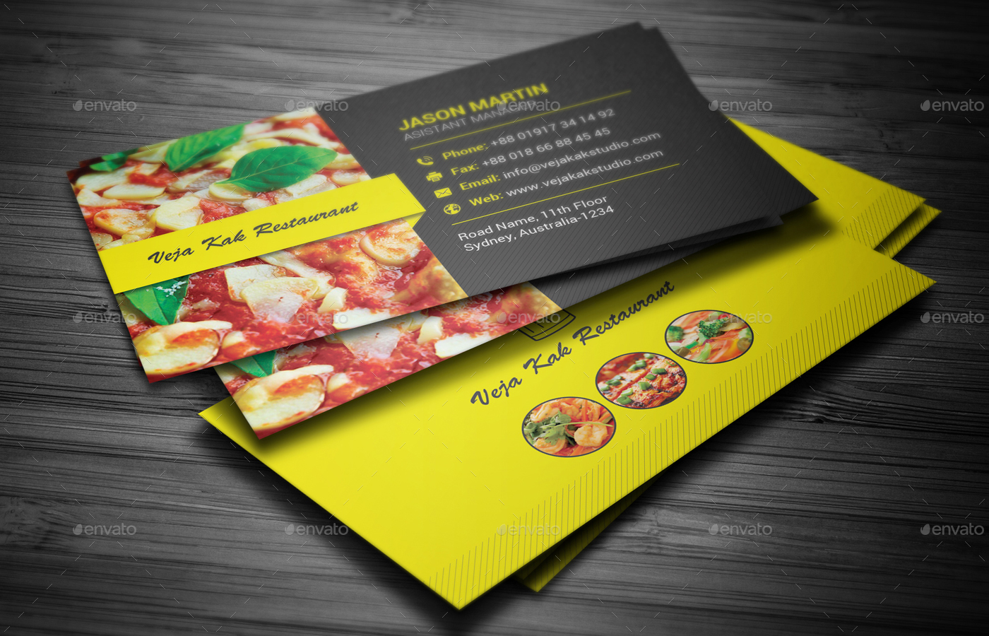 Restaurant business card by vejakakstudio graphicriver restaurant business card colourmoves