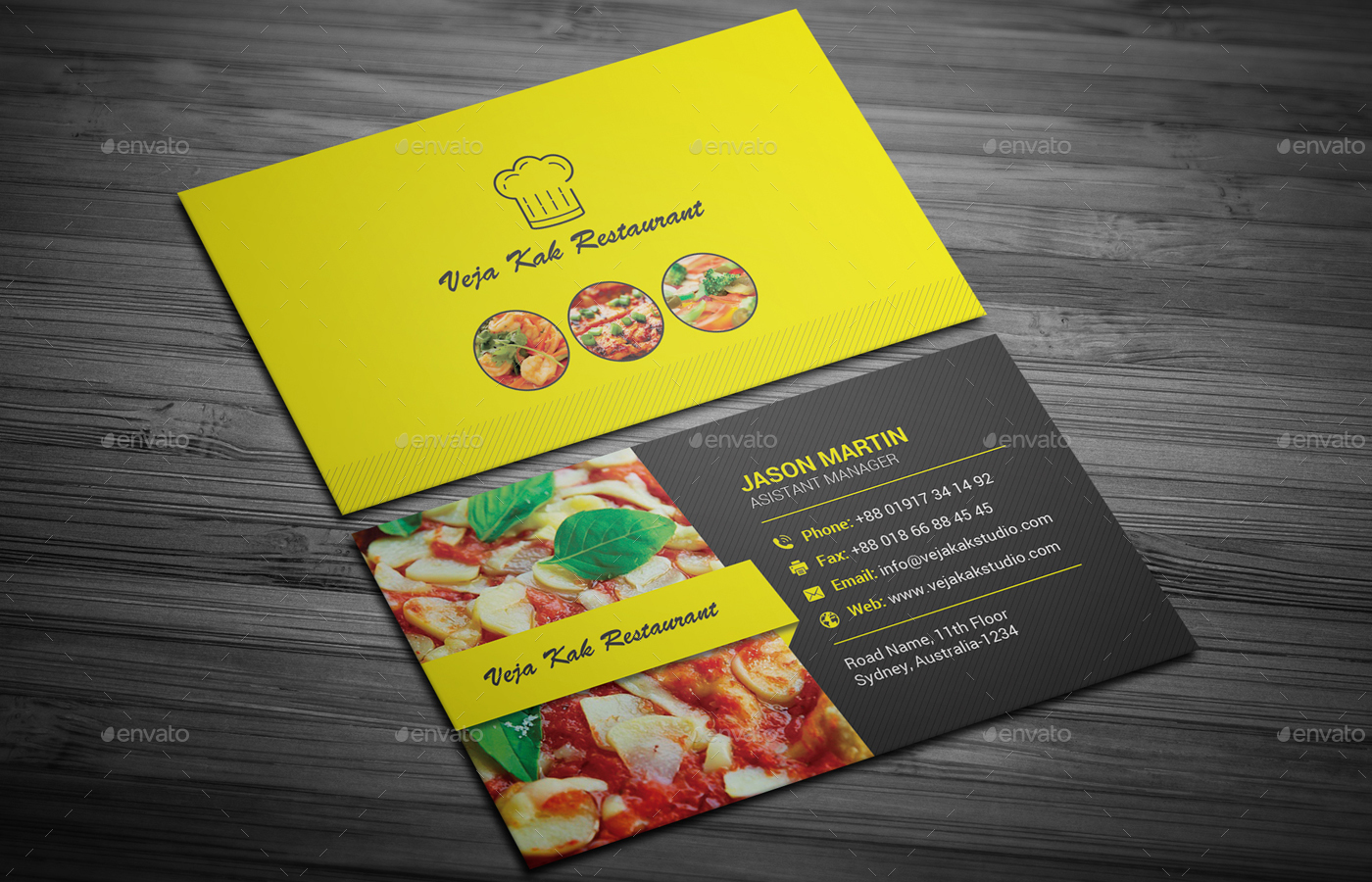 Restaurant business card by vejakakstudio graphicriver industry specific business cards preview01g preview02g preview03g preview04g reheart Gallery
