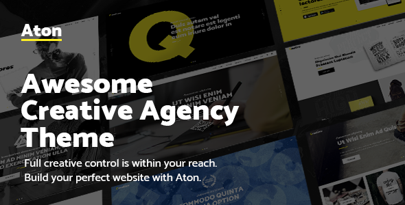 Aton – A Creative Theme for Modern Design Agencies and Freelancers