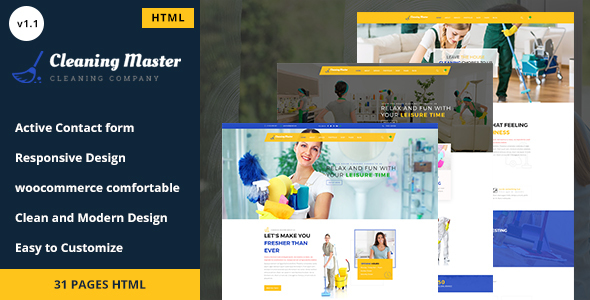 Clening Master - Cleaning Company HTML5 Template - Business Corporate