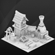 Fantasy game house. Blacksmith. - 3DOcean Item for Sale