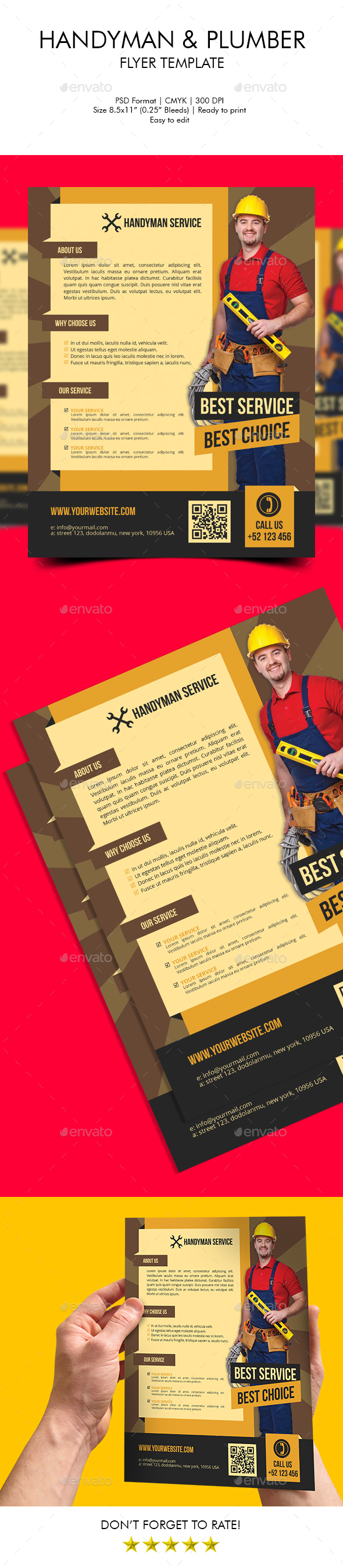 Handyman & Plumber Flyer Template - Corporate Flyers