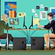 Programmer and Designer Working in an Office - GraphicRiver Item for Sale