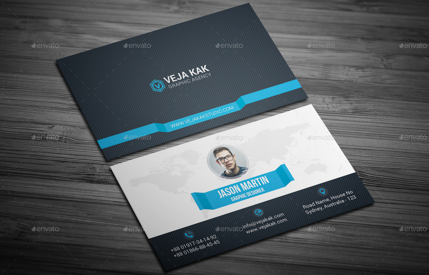 Corporate Business Card by vejakakstudio | GraphicRiver